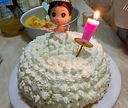 8寸芭比生日蛋糕的做法