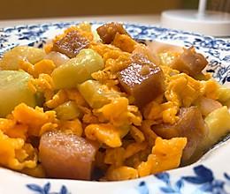 极简|西葫芦鸡蛋午餐肉丁的做法