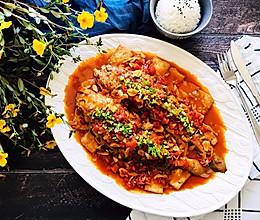茄汁大黄鱼焖豆腐的做法