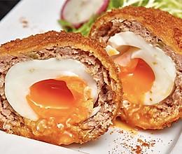 【苏格兰蛋】鸡蛋裹肉炸一炸,绝妙!的做法