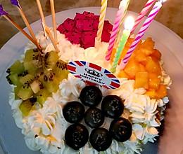 樱花水果蛋糕的做法