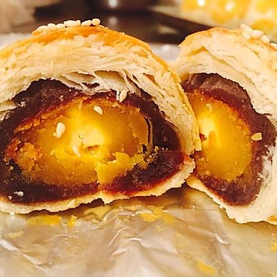 黄油版豆沙蛋黄酥(超详细)