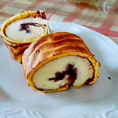 蓝莓虎皮蛋卷(无油版)