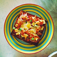 吐司太阳蛋简易披萨