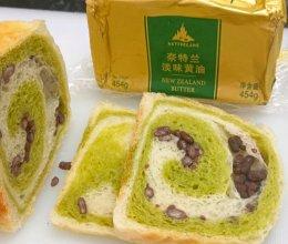 #奈特兰草饲营养美味#双色蜜豆吐司