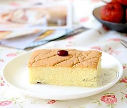 蜜豆戚风蛋糕块的做法
