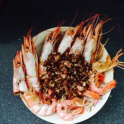 蒜蓉开背阿根廷红虾