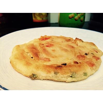 葱油饼(加番茄的哦)