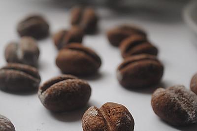 香醇浓郁的巧克力咖啡豆饼干
