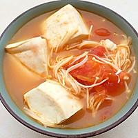 番茄金针菇豆腐汤的做法图解7
