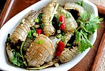 温州虾蛄生的做法