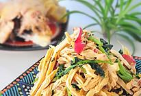 三黄鸡拌菜的做法