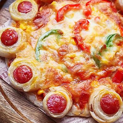 手抓饼版披萨