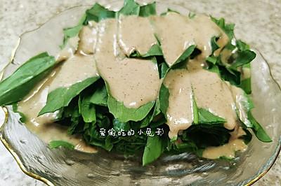 麻酱拌油麦菜(清爽又简单)