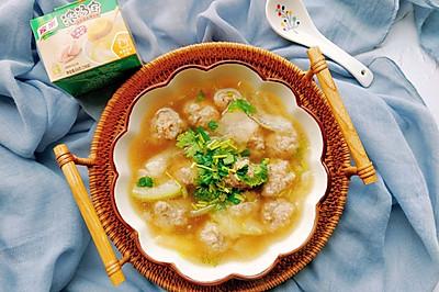 冬瓜肉丸汤,喝完暖暖过寒冬