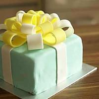 Tiffany礼物盒蛋糕的做法图解13