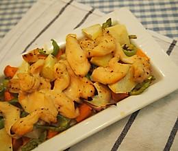 没有油烟的美味——鸡胸肉烤时蔬的做法