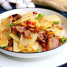 干锅土豆片炒五花肉