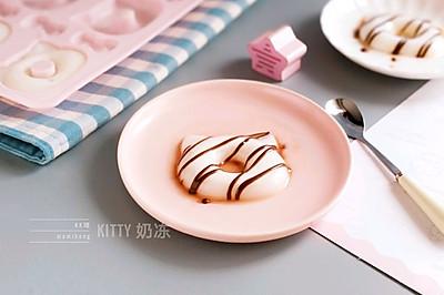 HELLO KITTY奶冻(白凉粉版)#夏日冰品不能少#
