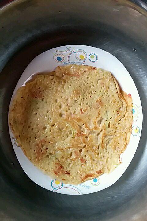 奶香鸡蛋饼(黄瓜火腿肠煎饼)的做法
