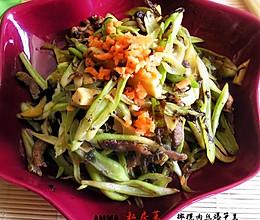 橄榄肉丝爆笋豆的做法