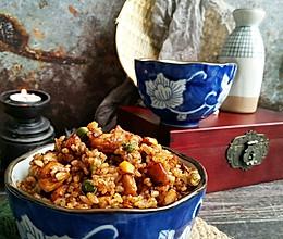 #童年不同样,美食有花样#蚝油鸡胸炒米饭!的做法