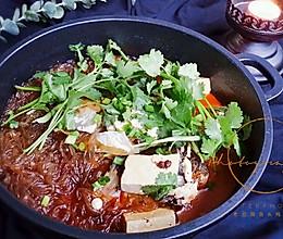 治愈美食#酸菜老豆腐鲢鱼头炖粉条#的做法
