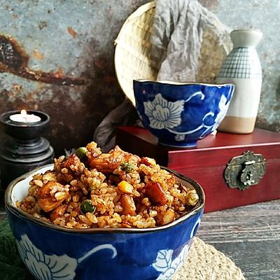 蚝油鸡胸炒米饭!