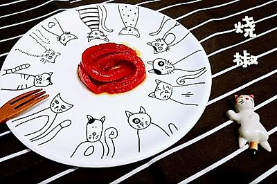 【烧椒】一朵盛开的红尖椒花-蜜桃爱营养师私厨-健康低卡减肥