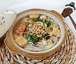 白菜豆腐粉丝虾的做法