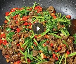 酱辣椒香菜牛肉的做法