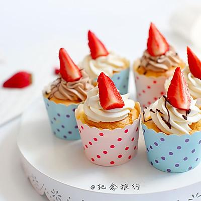 草莓奶油纸杯蛋糕