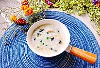 #餐桌上的春日限定#低卡养生【皮蛋鸡丝粥】 | 元気汀的做法