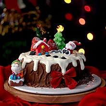 圣诞树桩蛋糕#令人羡慕的圣诞大餐#