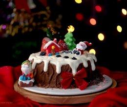 圣诞树桩蛋糕#令人羡慕的圣诞大餐#的做法