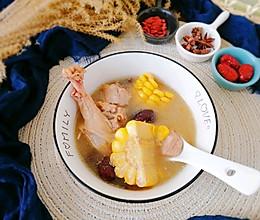 红枣玉米煲老鸭汤的做法