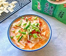 #下饭红烧菜#10分钟搞定的家常开胃西红柿鸡蛋面的做法