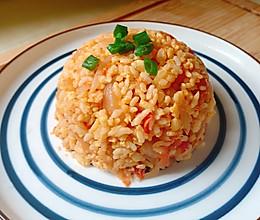 #美食视频挑战赛#番茄洋葱蛋炒饭的做法