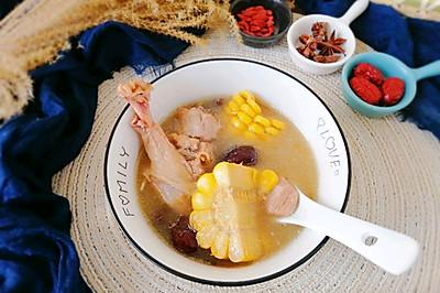 红枣玉米煲老鸭汤