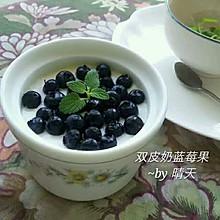 双皮奶蓝莓果