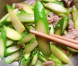 瘦肉炒芦笋的做法