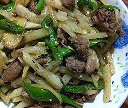 凉薯炒鸭肉的做法