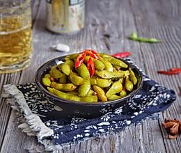 香辣吮指毛豆的做法