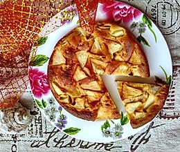 #爱好组-低筋# 无油无糖全麦酸奶苹果蛋糕的做法