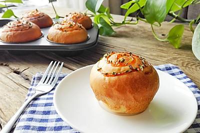 超级松软的奶油肉松香葱小面包--长帝贝贝CRWF32AM试用