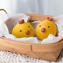 萌鸡奶黄面包