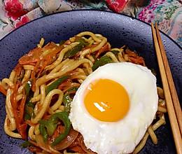 孤独美食家•日式炒乌冬的做法