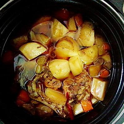 土豆炖鸡(懒人做法)