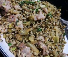 巨好送饭的猪肉粒榨菜炒蚬肉的做法