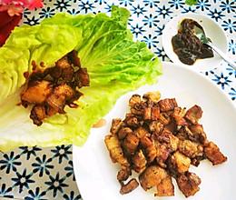 简易版生菜包肉的做法
